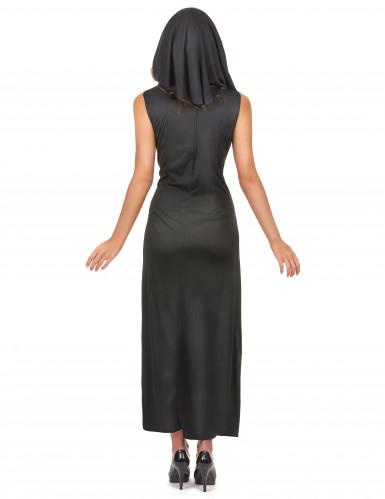 Sexy Nonne Damenkostüm schwarz-weiss-2