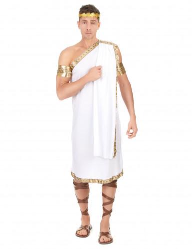 Römer-Politiker-Kostüm für Herren weiss-goldfarben