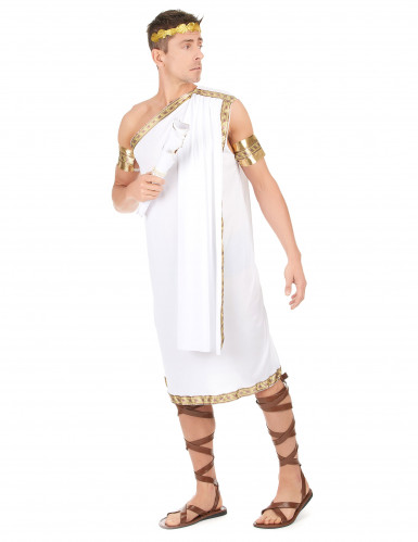 Römer-Politiker-Kostüm für Herren weiss-goldfarben-1