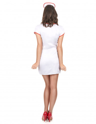 Krankenschwester-Damenkostüm sexy weiss-rot-2