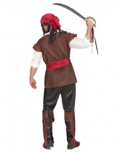 Seeräuber-Karneval-Kostüm für Herren braun-weiss-rot-1