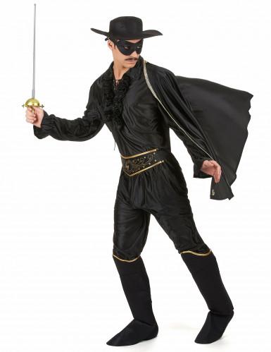 Rächer-Kostüm für Herren schwarz-1