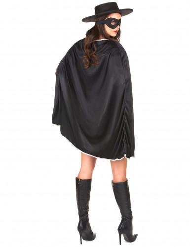 Schwarze Rächerin-Kostüm für Damen-2