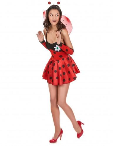 Sexy Marienkäfer-Kostüm für Damen schwarz-rot-1