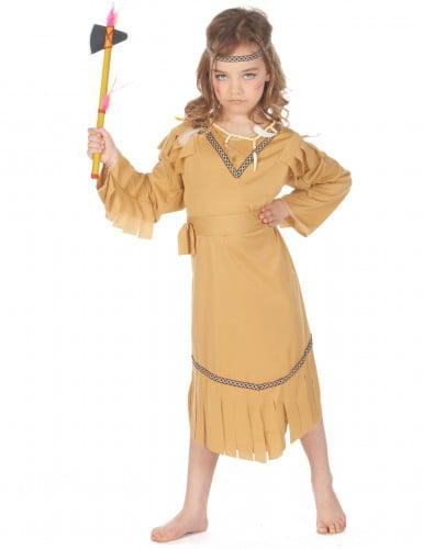 Indianerin-Mädchen-Kostüm bunt