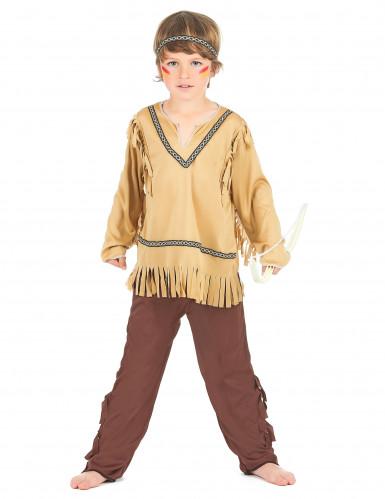 Indianer-Kinderkostüm für Jungen beigefarben-braun