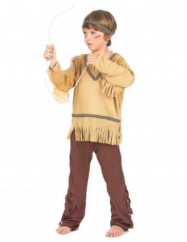 Indianer-Kinderkostüm für Jungen beigefarben-braun-1