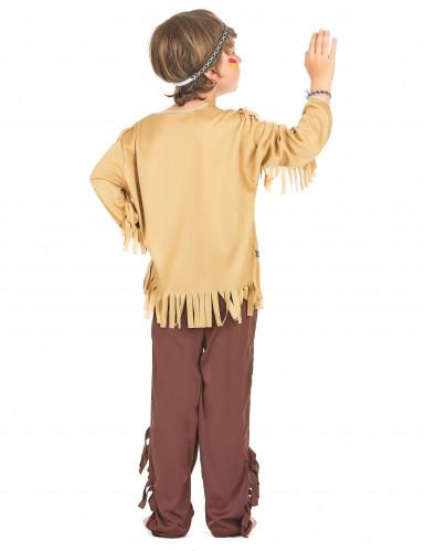 Indianer-Kinderkostüm für Jungen beigefarben-braun-2