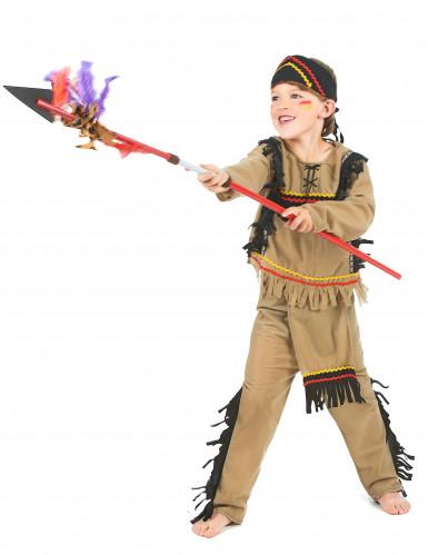Indianer-Kostüm für Jungen 3-teilig beige-1