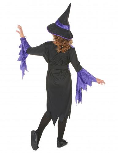 Halloween Hexen-Kostüm violett für Mädchen-2