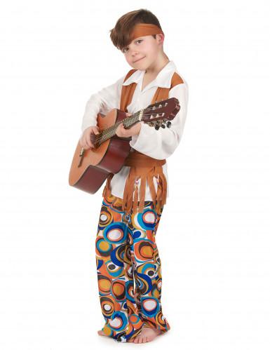 Hippie-Jungenkostüm mit Stirnband bunt-1