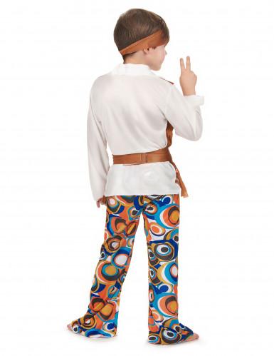 Hippie-Jungenkostüm mit Stirnband bunt-2