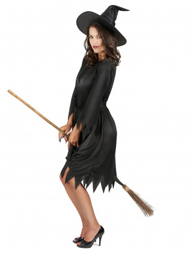 Halloween-Hexenkostüm für Damen schwarz-1