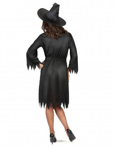 Halloween-Hexenkostüm für Damen schwarz-2