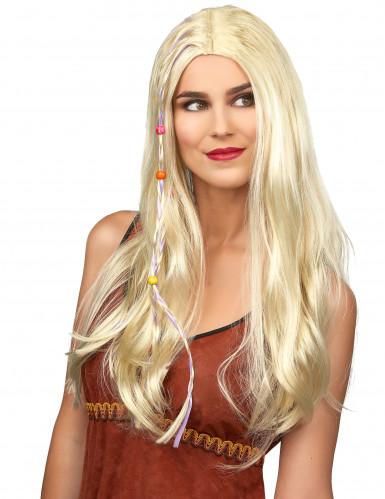 Hippieperücke blond für Erwachsene