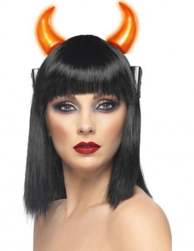 Leuchtende Teufelshörner für Erwachsene Halloween