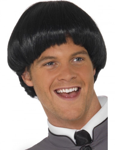 Perücke für Herren schwarz kurze Haare