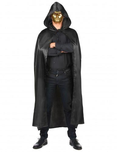 Vampirella-Umhang schwarz Halloween für Erwachsene-3