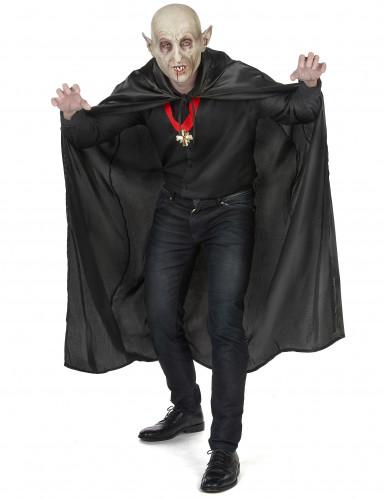 Vampirella-Umhang schwarz Halloween für Erwachsene-4