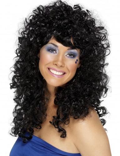 Schwarze Miezen-Perücke für Damen