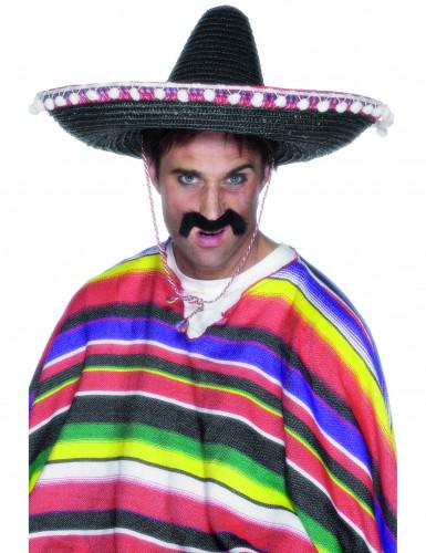 Mexikanischer Sombrero für Erwachsene schwarz-bunt