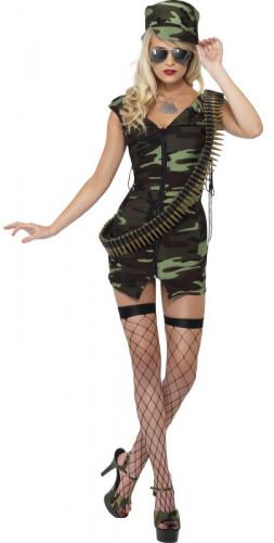 Sexy Soldaten-Kostüm für Damen