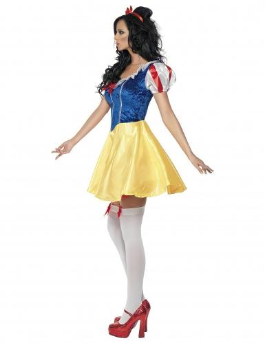 Sexy Märchen-Prinzessin Damen-Kostüm gelb-blau-2