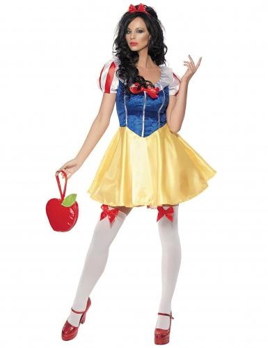 Sexy Märchen-Prinzessin Damen-Kostüm gelb-blau-1