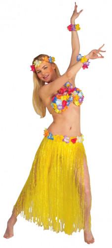 Hawaï Set für Erwachsene. In Gelb.