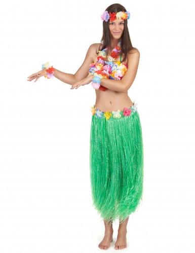 Hawaï Set für Erwachsene. In Grün.