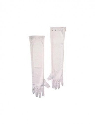 Weiße Handschuhe lang Kind