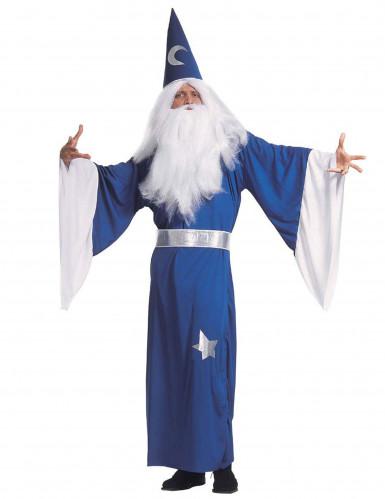 Blaues Zauberer-Kostüm für Herren