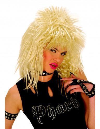 Blonde Rock-Perücke für Damen