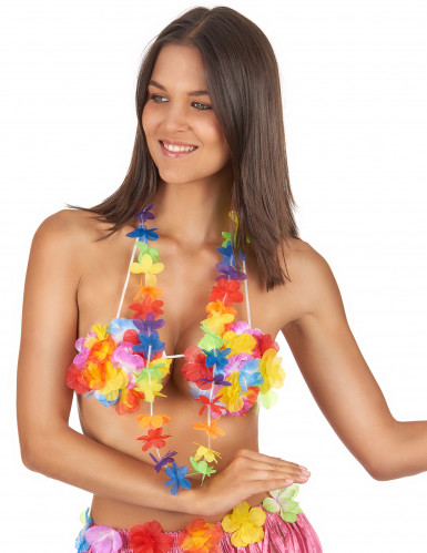 Hawaii Blumenkette bunt-1