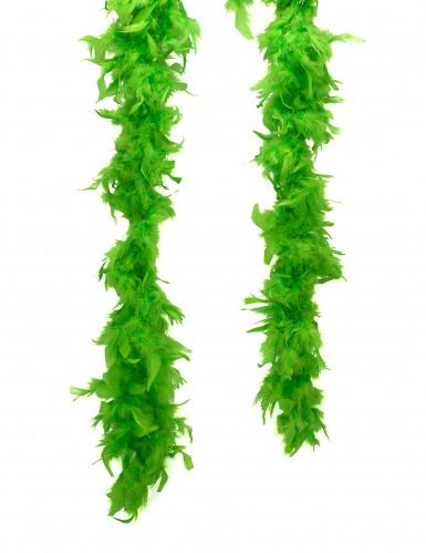 Schrille Federboa Karneval-Zubehör 20er-Jahre grün