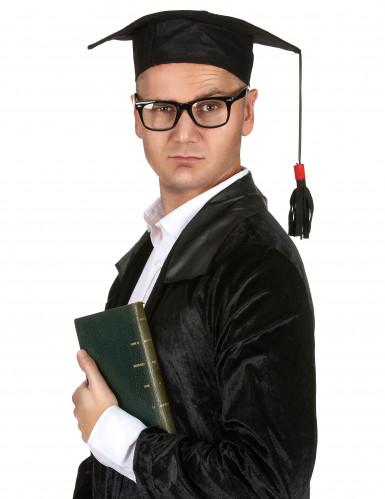 Doktor-Hut für Erwachsene schwarz-1