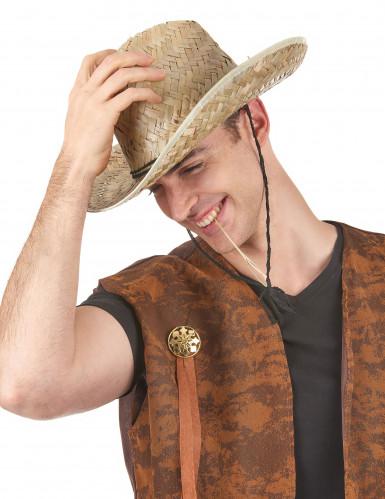Strohhut Dallas Bull für Erwachsene-1