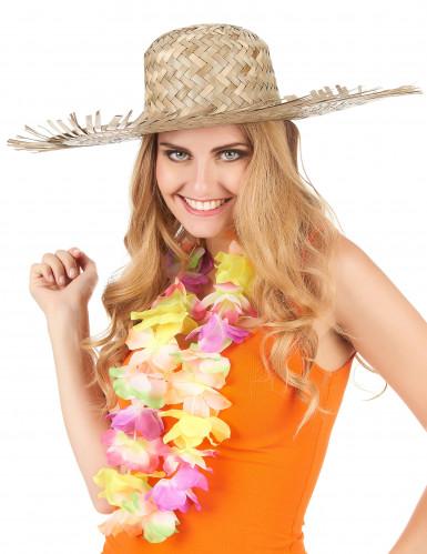 Strandhut Hawaii für Erwachsene beige-2