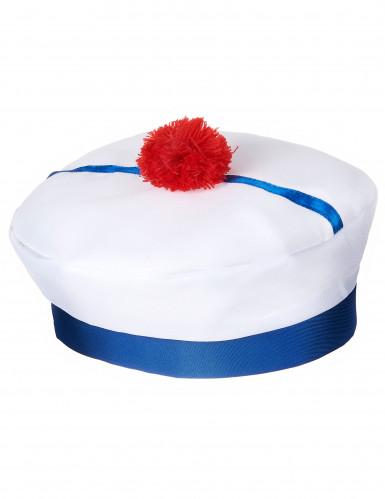 Matrosenhut-Seefahrer für Erwachsene weiss-blau