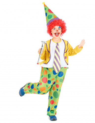 Humorvolles Clowns-Kostüm für Kinder bunt