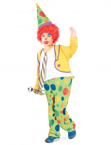 Humorvolles Clowns-Kostüm für Kinder bunt-1