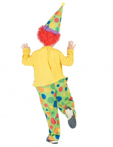 Humorvolles Clowns-Kostüm für Kinder bunt-2
