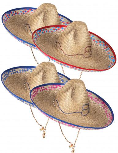 Mexikanerhut aus Stroh für Erwachsene