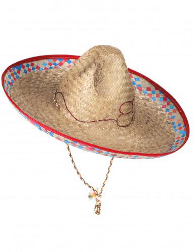 Mexikanerhut aus Stroh für Erwachsene-2