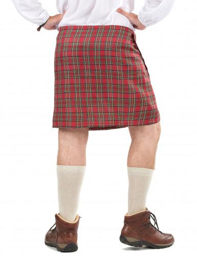 Schottenrock mit Kunstfell für Erwachsene-1
