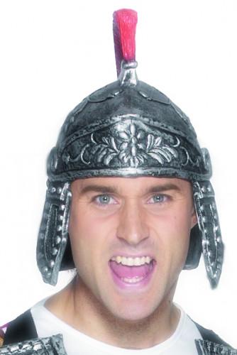 Römischer Soldatenhelm für Erwachsene silberfarben-rot