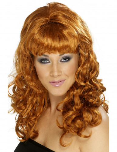 Damen-Perücke mit langem kupferrotem Haar
