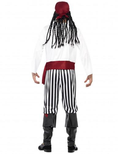 Piraten-Faschingskostüm für Herren schwarz-weiss-rot-1
