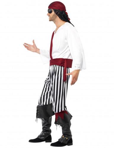 Piraten-Faschingskostüm für Herren schwarz-weiss-rot-2