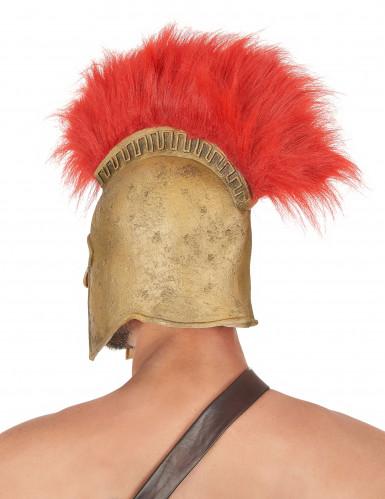 Römischer Soldatenhelm mit Helmbusch für Erwachsene rot-goldfarben-1